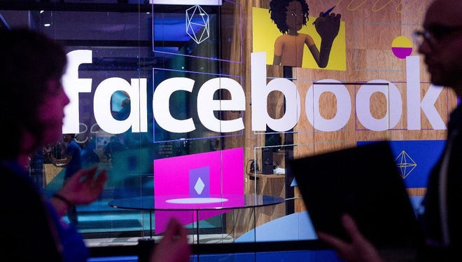 A demo booth at Facebook's annual F8 developer conference, Tuesday, April 18, 2017. CEO Mark Zuckerberg addressed recent violence on Facebook at the conference.