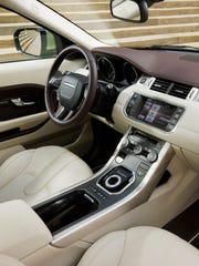 The 2015 Range Rover Evoque didn't skim on interior comforts, including Meridian audio, navigation, heated front and rear seats, and a heated steering wheel.