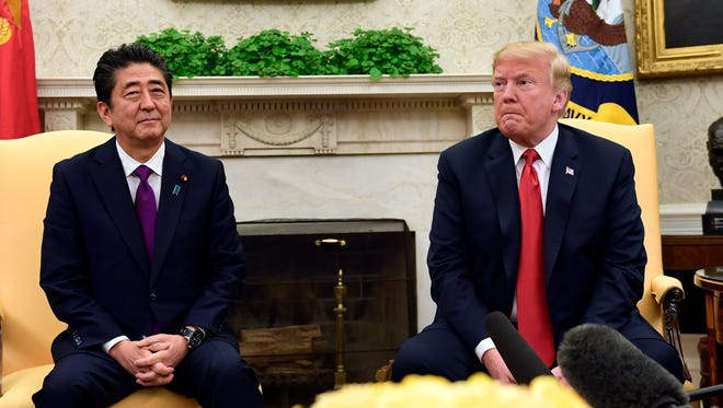 President Trump and Shinzo Abe