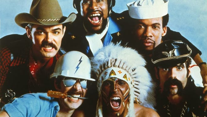 The original members of The Village People, ca. 1979. From left: Randy Jones (cowboy), David Hodo (construction worker), Victor Willis (cop), Felipe Rose (Native American), Alex Briley (soldier) and Glenn Hughes (leatherman).