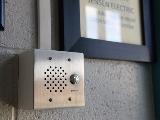 The intercom system at Spanish Springs Elementary School used to screen visitors to the school.