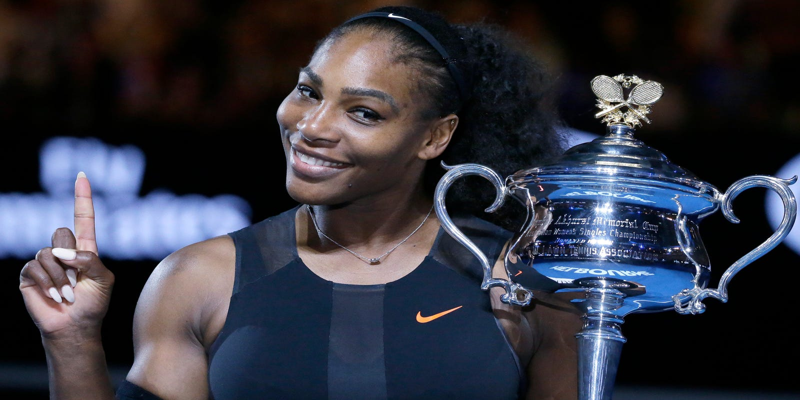 Angelique Lewis Nude she's here! serena williams has baby girl
