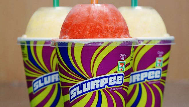 These 12-oz. Slurpees will be free at 7-11 on  7-11 (Friday, July 11)
