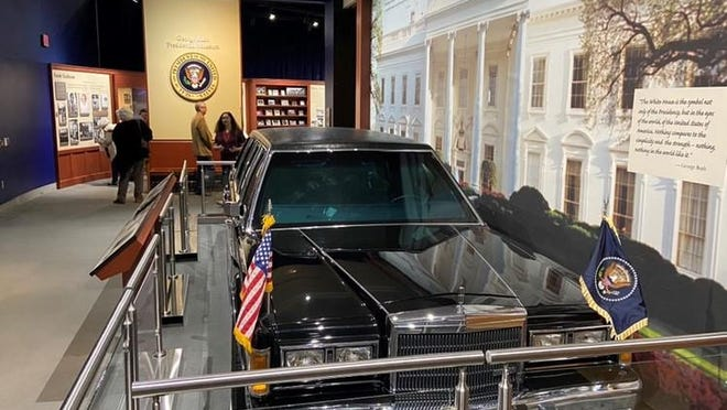 The Ford Lincoln Presidential limo used by the first President Bush at the George Bush Presidential Museum in College Station, Texas.