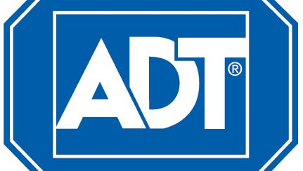 The logo for home security and monitoring firm ADT.