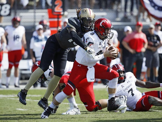 UCF redshirt senior Shaquem Griffin won the AAC Defensive
