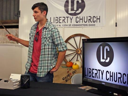 Malachi Loos is raising money at the Liberty Church