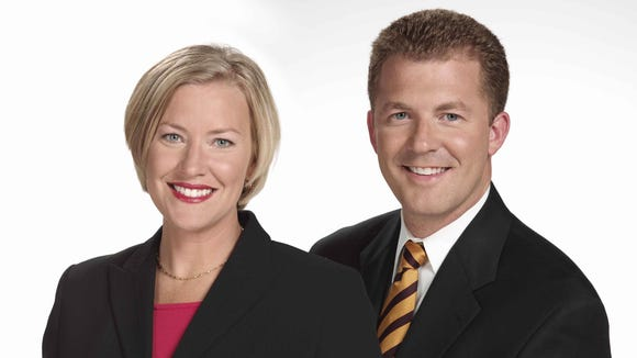 """Todd Dykes and Lisa Cooney have co-anchored WLWT-TV's """"News 5 Today"""" since 2008."""