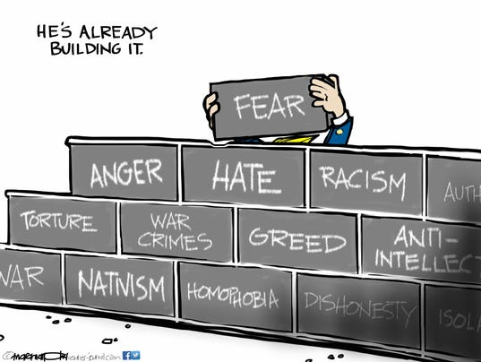 Letter More Bricks For Cartoon S Trump Wall