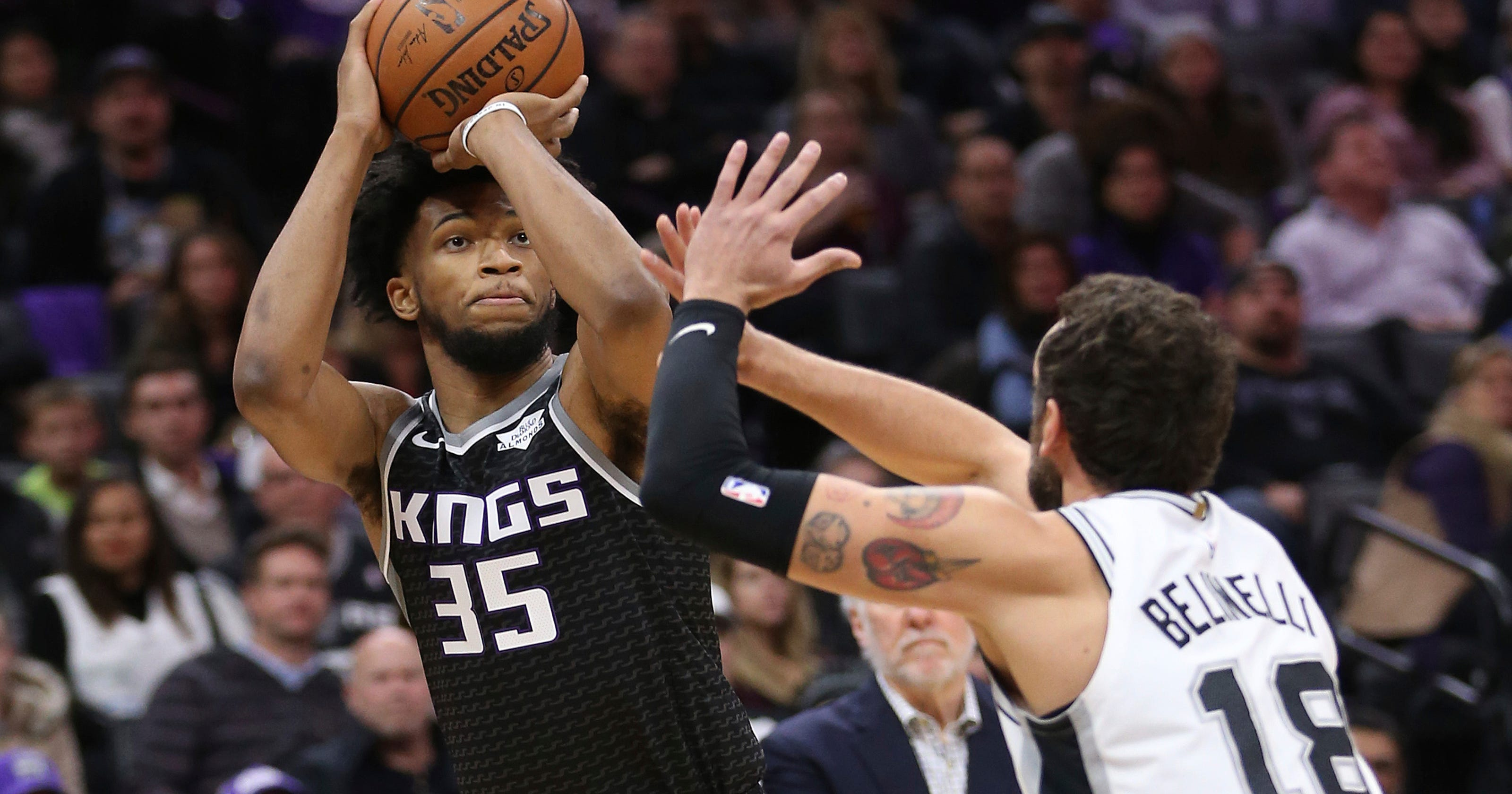 bfa16262fc1 Bagley s career-high 24 points lead Kings past Spurs 127-112