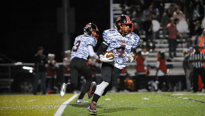 Isaiah Fisher (4) is one of nearly two-dozen seniors for the Pisgah football team.