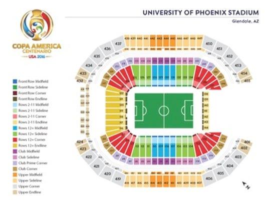 Mapa de asientos.
