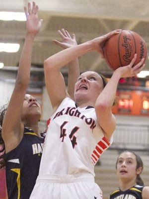 Brighton's Jessica Savage (44) and Hartland's Greyson Cockerham will help lead their teams in tonight's first round.