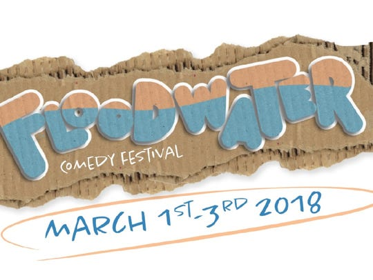 The logo for Floodwater Comedy Festival.
