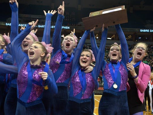 Sartell dancers celebrate placing first in the state