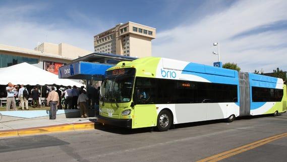 Sun Metro's bus-rapid transit system, Brio, is seen in this undated file photo.