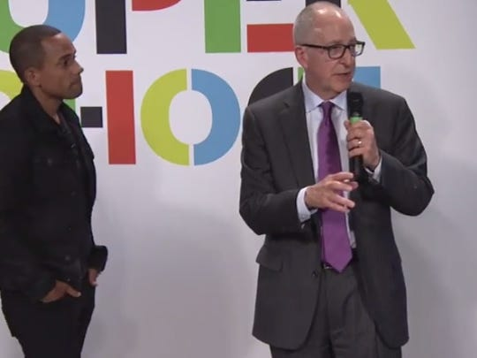 David Skorton, former Cornell University president, speaks Wednesday at the XQ Super School awards.