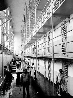 Tennessee State Penitentiary inmates hang around in a crowded cellblock Aug. 23, 1978. Chancellor Ben H. Cantrell has ruled that the Tennessee's prison system is unconstitutional in that it violates rights of prisoners under the Tennessee and U.S. constitutions.