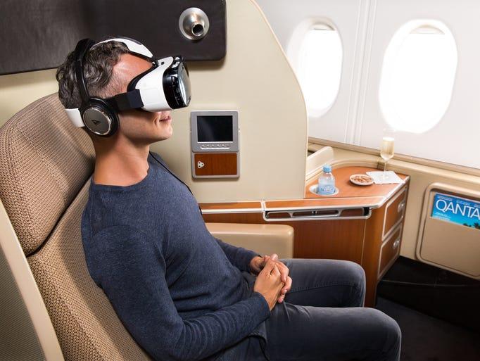 The Latest In-Flight Entertainment: Virtual Reality Headsets