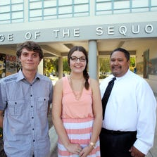College of the Sequoias is one of the 24 community colleges statewide selected to offer the Pathway to Law School Initiative. Students who qualify follow a pathway starting at the community college level and get preference as they move into an undergrad program and then into law programs offered at six law schools in California: Loyola Law School, Santa Clara University School of Law, UC Davis School of Law, UC Irvine School of Law, University of Southern California Gould School of Law and university of San Francisco School of Law. Luis Gutierrez, 22, Elizabeth Hammond, 21, and Louie Campos, 41, are currently enrolled in the law school initiative at COS.Luis Gutierrez, 22, left, Elizabeth Hammond, 21, and Louie Campos, 41, are currently enrolled in the Community Colleges Pathway to Law School initiative at COS.