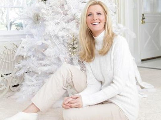 Sandra Lee at home with her holiday decorations.