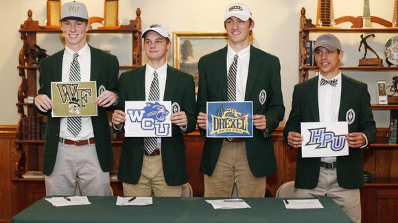 Four seniors from Christ School signed to play college