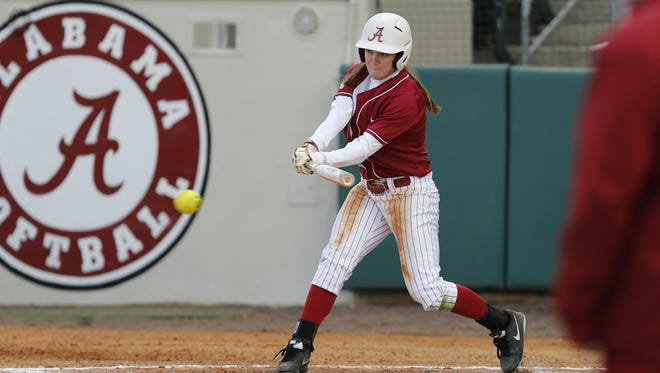 Alabama outfielder Haylie McCleney led the Crimson Tide with a .444 batting average.