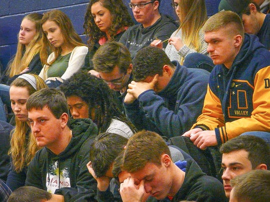 Hundreds of Del Val High School students observe five