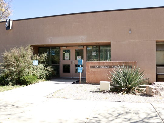 Last year, 72 Doña Ana County residents were admitted into the New Mexico Behavioral Health Institute's psychiatric hospital in Las Vegas. It's run by the New Mexico Department of Health. Newly arriving patients are admitted through this entrance, seen here in mid-October 2017 on the institute's 300-acre campus.