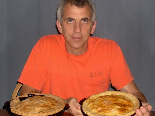Joe Schwark, shown with blackberry pies, learned the