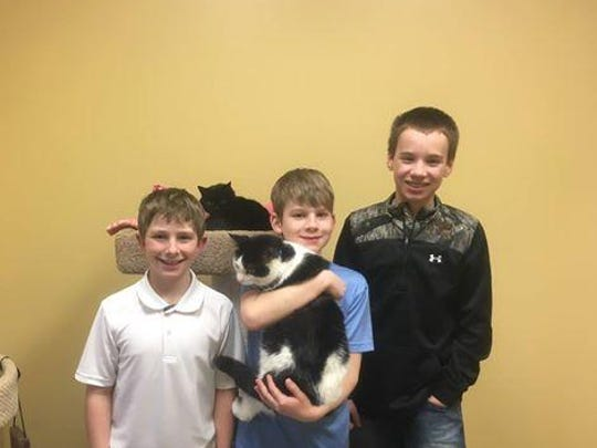 The Lincoln County Humane Society would like to thank Brock Wakefield, age 10, Sawyer Marnholtz, age 10, and Seth Marnholtz, age 13, for their generous donation to the shelter! Brock, Sawyer and Seth, all of Merrill, shoveled snow for their neighbors after the last big storm. Although the boys offered to shovel for free, many of their neighbors paid them anyway. These generous young men decided to donate the money they earned to LCHS! Thank you, Brock, Sawyer and Seth! Your kindness is greatly appreciated!