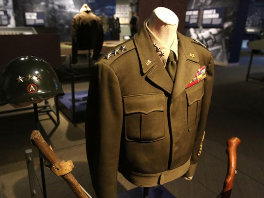 This uniform was used by Gen. George S. Patton in 1944 while fighting in Europe during World War II. It's on exhibit at The Oregon Historical Society.