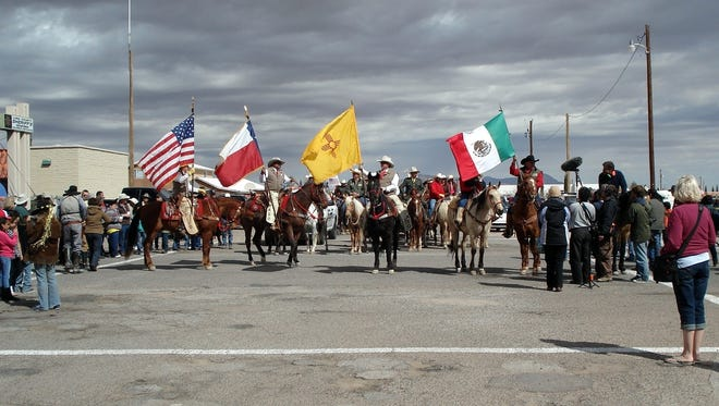 The 2014 Cabalgata Binacional, or Cavarly Remembrance Trail Ride feayured over 100 riders on horseback who made their way from northern Chihuahua, Mexico to the Village of Columbus as a show of goodwill between Mexico and the United States. This year marks the 17th annual ride to coincide with the 100th anniversary of Pancho Villa's raid on Columbus. The raid occured on March 9, 1916.