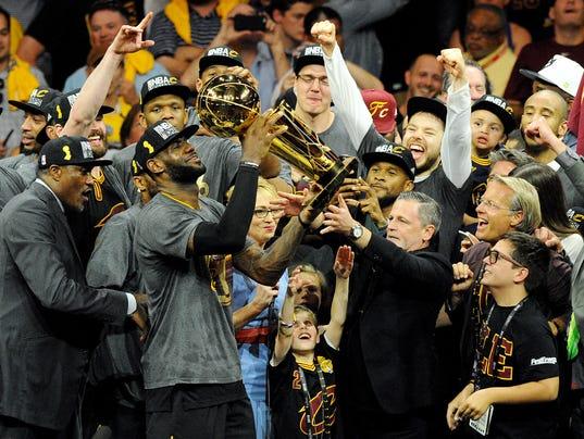 LeBron James NBA trophy