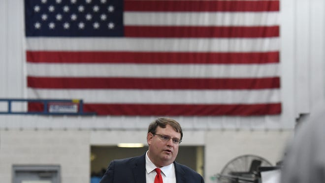 """Ohio Senate President Larry Obhof Obhof, in his speech Tuesday in Mansfield, said the country will have a """"manufacturing renaissance"""" if the president wins reelection."""