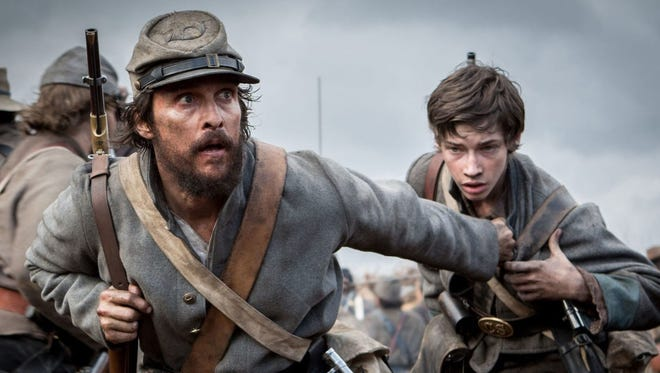 """Jacob Lofland, left, and Matthew McConaughey are Confederate soldiers in """"Free State of Jones."""""""