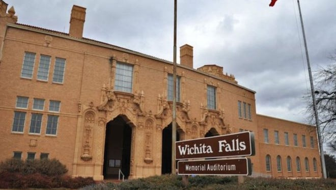 Memorial Auditorium in Wichita Falls was built in 1927, and city offices moved there in the 1960s.