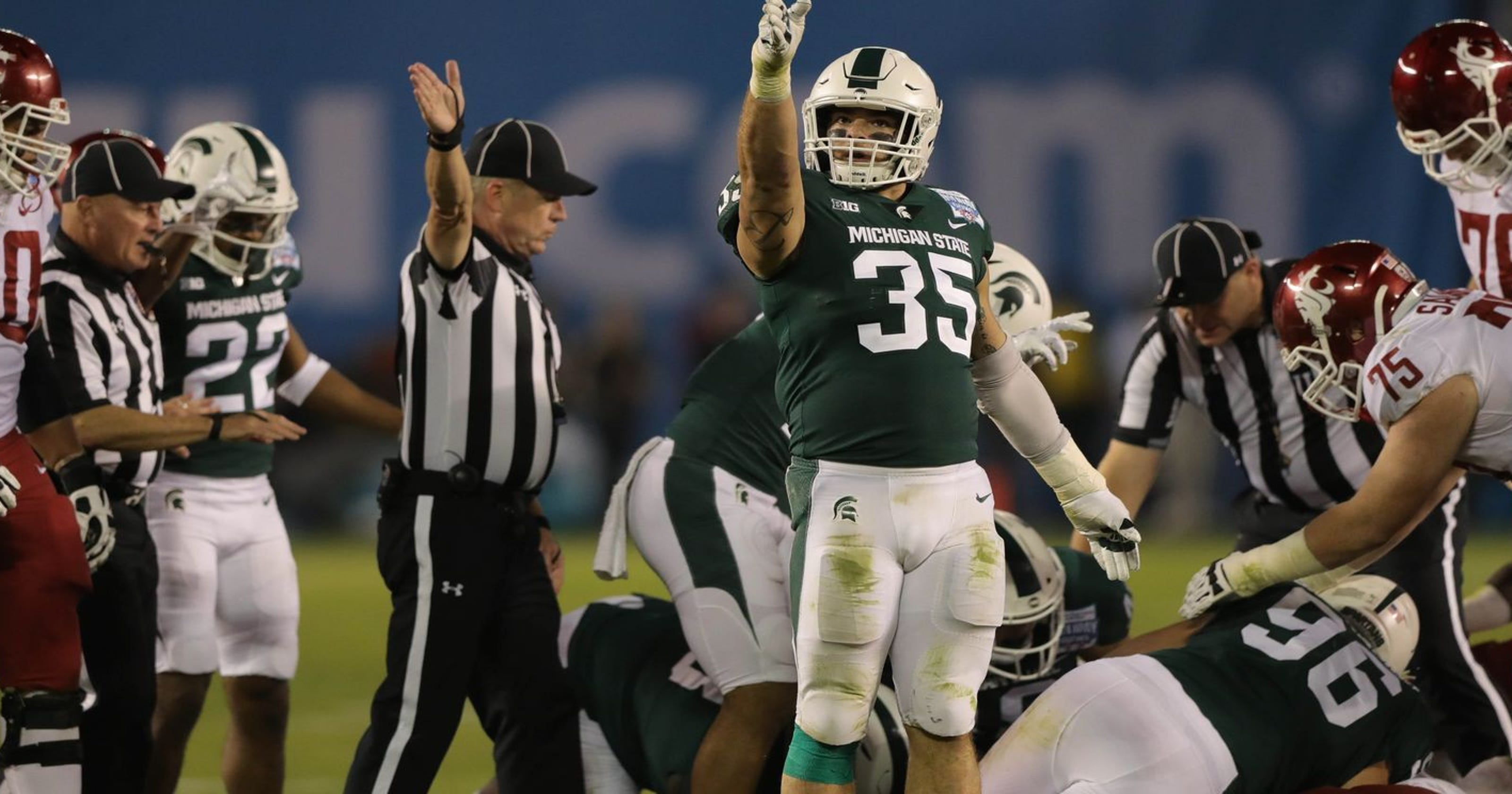 premium selection caff0 8a585 Joe Bachie, Andrew Dowell boost Michigan State LBs' speed ...