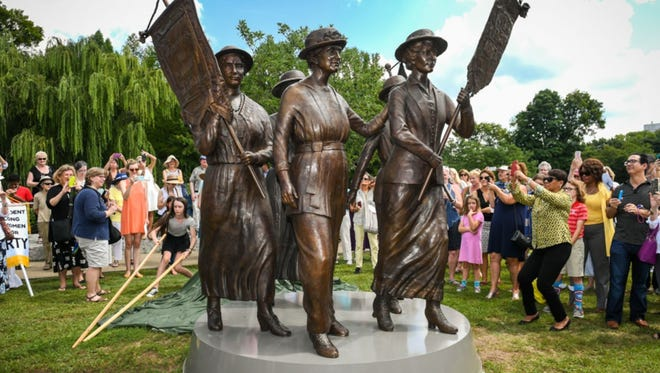 The Nashville women's suffrage monument.