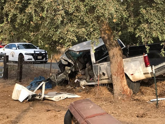 The driver of a pickup died sometime late Thursday or early Friday after crashing into a fence and tree near Cottonwood.