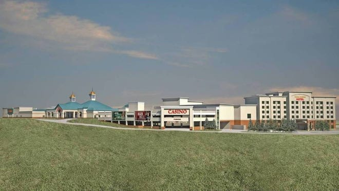 An artist's rendering of the planned expansion project at Tioga Downs in Nichols.