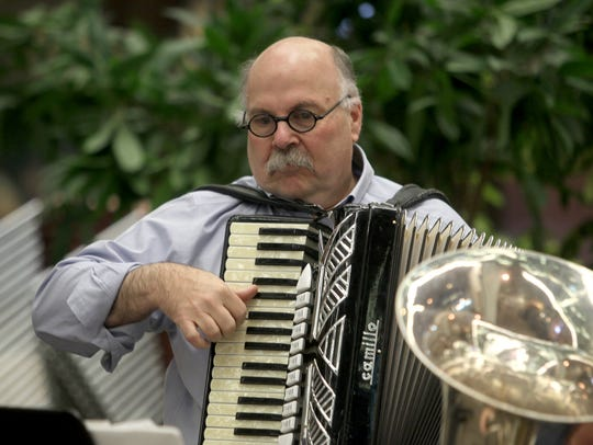 The Java Jews Klezmer Band's Abe Goldstien performs