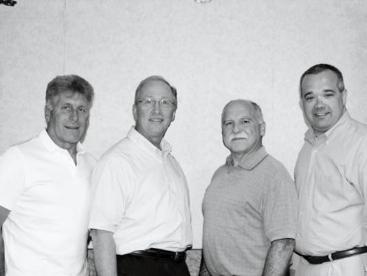 Candidates, from left, David Graybill, Brian Wolfe, Roy Zimmerman and Richard Rabuck are running as independents for Northern Lebanon school board.