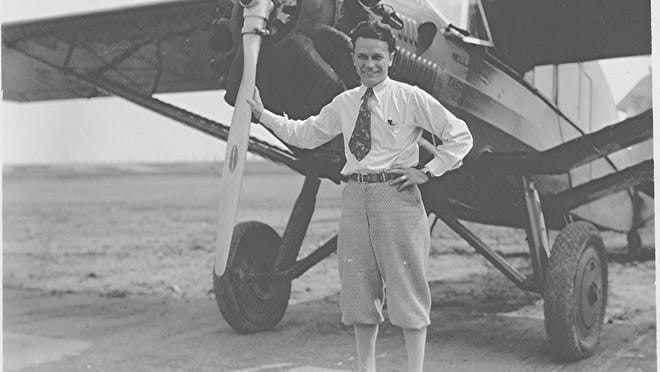 Joe Rock of Rock's Flying Service in the 1930s. Joe and his wife Cora came to Bristol to operate the airport.