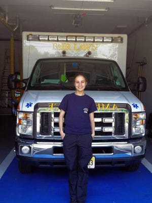 Rebecca Zaritsky is celebrating her one-year anniversary with the Fair Lawn Volunteer Ambulance Corps.