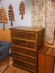 Dresser and clothes hamper crafted from Flathead lake