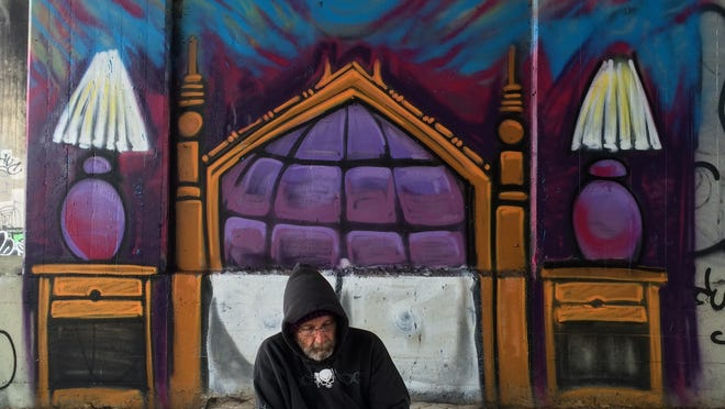 Thomas Rebman, a retired Naval officer, who made a stop in Pensacola during his journey across the nation to educate Floridians and the nation about the true plight of the homeless has reached Los Angeles's Skid Row.