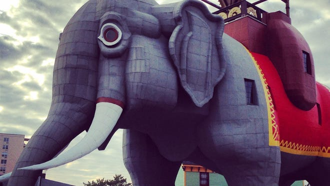 """Lucy the Elephant was named the oldest roadside attraction in America by """"Weird U.S."""" and the oldest surviving example of buildings constructed in the shape of animals."""
