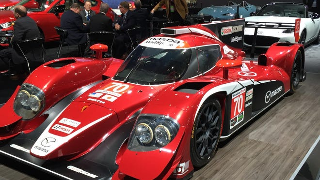 This Mazda Prototype will compete in the Rolex 24 at Daytona and the Mobil 1 Twelve Hours of Sebring.