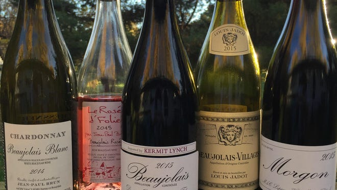Wines from the Beaujolais region of France include whites and rosés, as well as reds.